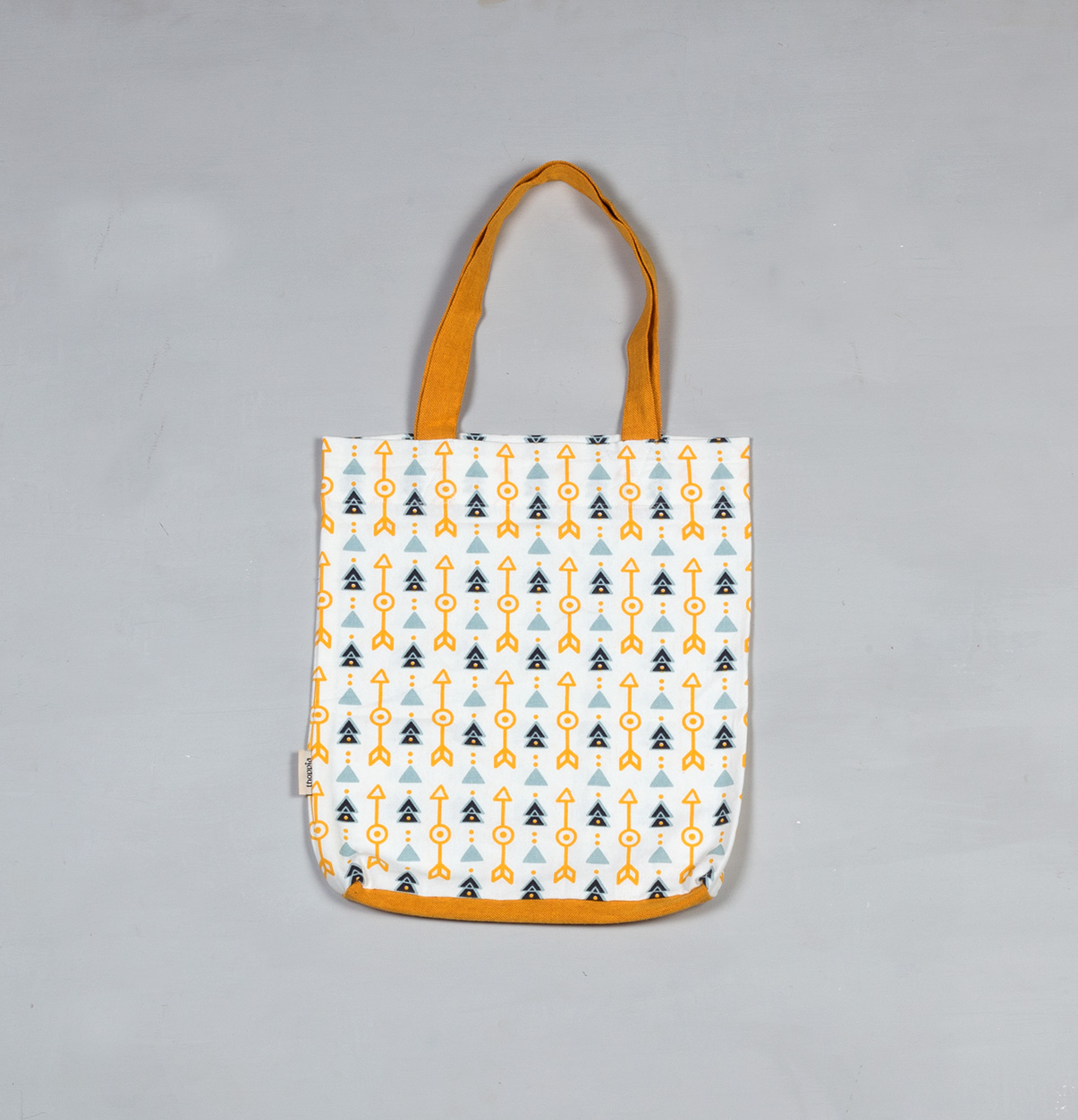 Aztec Arrows Cotton Tote Bag Citrus Yellow – Thoppia bf86c59d0954c