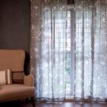 Dreamcatcher Brown Sheer Fabric