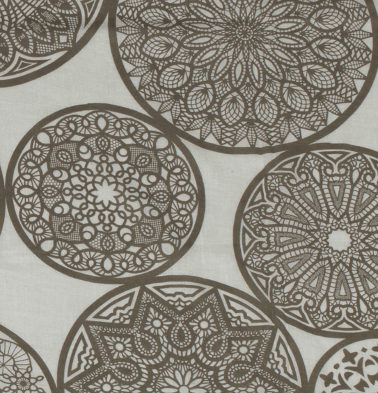 Dreamcatcher Brown Sheer Fabric