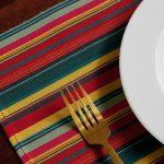 Handwoven Vibrant Stripe Cotton Tablemats Multi-color – Set of 6