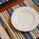 handwoven vibrant stripe cotton tablemats multi-color