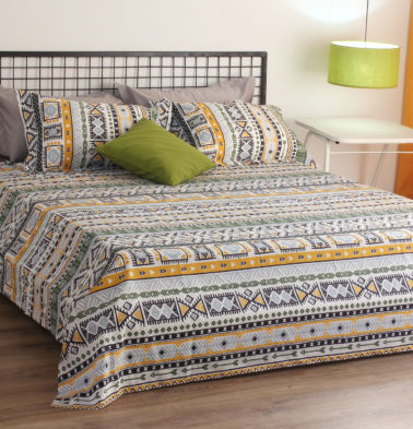 Aztec Cotton Bedsheet – Green