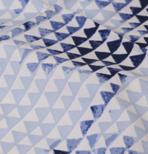 Star Triangle Cotton Bedsheet – Blue