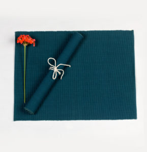 Handwoven Cotton Tablemats Eden Blue – Set of 6