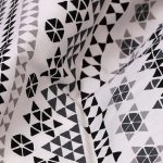 mosaic-print-cotton-bedsheet-black-buy-oniline