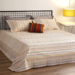 Mosaic Print Cotton Bedsheet – Yellow