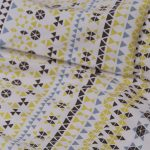 mosaic-print-cotton-bedsheet-lemon-buy-online