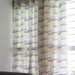 Wave texture lemon chrome curtain custom