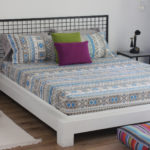 Aztec Cotton Bedsheet - Blue