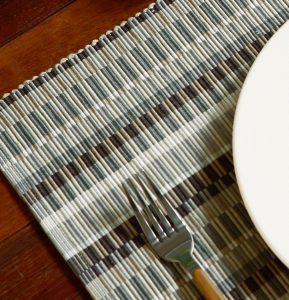 Handwoven Cotton Tablemats Shades of Grey- Set of 6