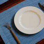 Handwoven Cotton Tablemats Light Blue- Set of 6