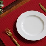 Handwoven Cotton Tablemats Maroon- Set of 6
