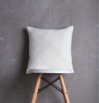 White Slub Cushion cover