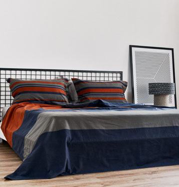 Bold Stripes Cotton Bedsheet