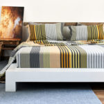 melange yellow stripes bed sheet