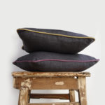Grey Mustard Cushion Cover