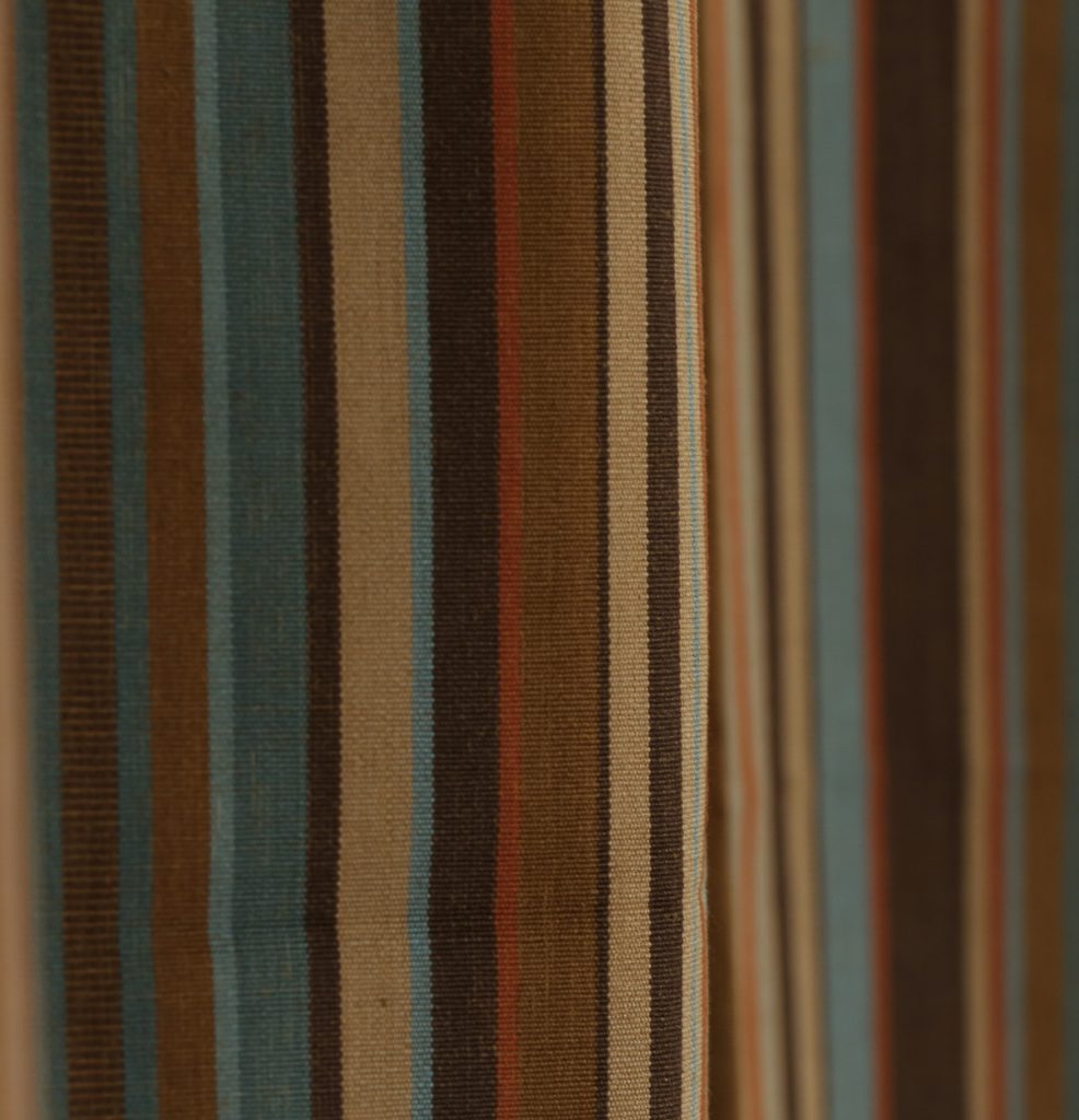 Stripe Cotton Curtain Brown Thoppia