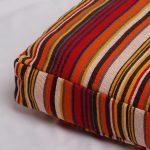 Handwoven Stripe Cotton Floor Cushion Red