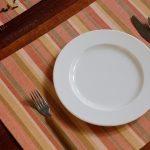 Handwoven Stripe Cotton Tablemats Coral – Set of 6