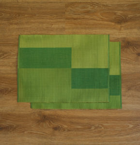 Handwoven Cotton Tablemats Green tile – Set of 6