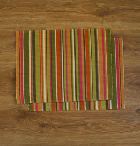 Handwoven Cotton Tablemats Multi Green – Set of 6