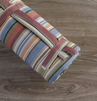 Textured Cotton Travel bed- Stripe Multicolor