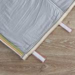Textured Cotton Travel bed- Stripe Multicolor