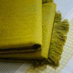 Handwoven Cotton throws Yelloow